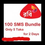 Robi 100 SMS @5 Taka Only. For All Users