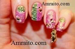 মেয়েদের ফ্যাশনে নখ আর্ট ,নখ ফুটো । Nail Art & Piercingfor girls.