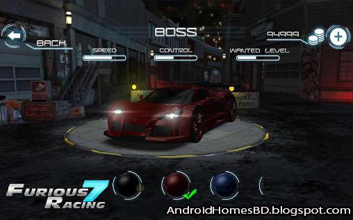 """আপনার এন্ডোয়েড মোবাইলে খেলুন অসাধারন Car Racing গেইম""""Furious 7: Racing""""।মেগাবাইট আপনার সাধ্যের মধ্যে।"""
