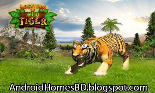 """বাঘ মামার অনেক ক্ষিদে পেয়েছে মামাকে শিকার করতে সাহায্য করুন অসাধারন একটি এন্ডোয়েড গেইম""""Adventures Of Wild Tiger""""। মেগাবাইট আপনার সাধ্যের মধ্যে।"""