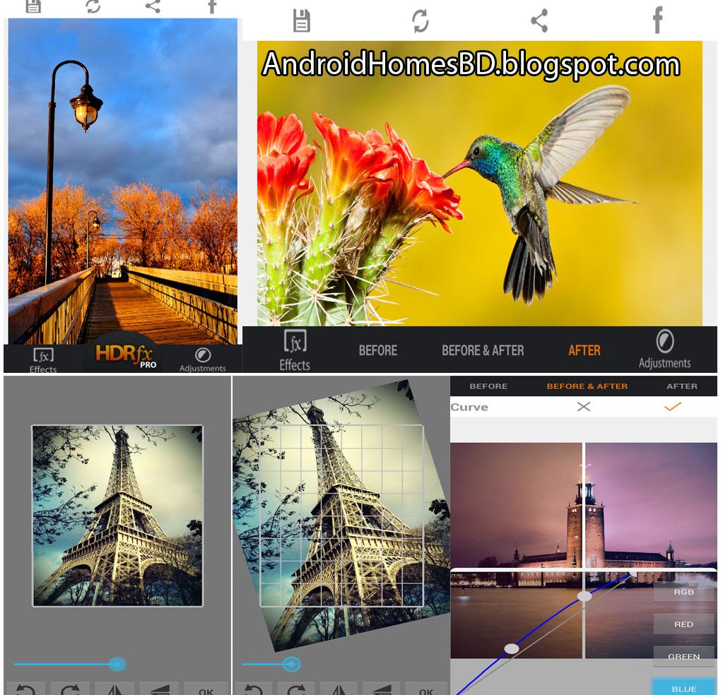 """HDR FX Photo Editor Pro"" $4.99 ডলার মূল্যের অসাধারন একটি ফটো এডিটর অ্যাপ।"