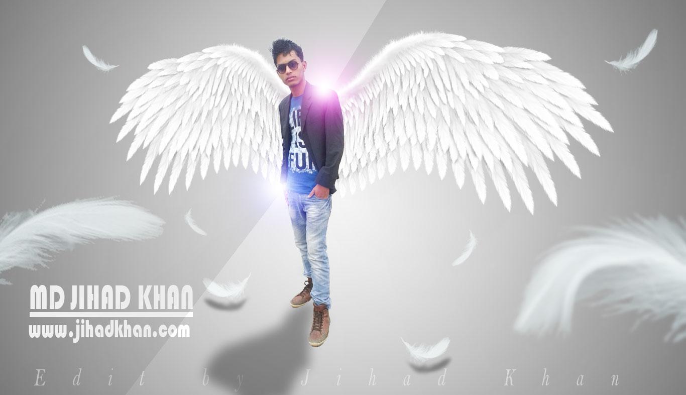 White Wings Boy Photo Manipulation Tutorial