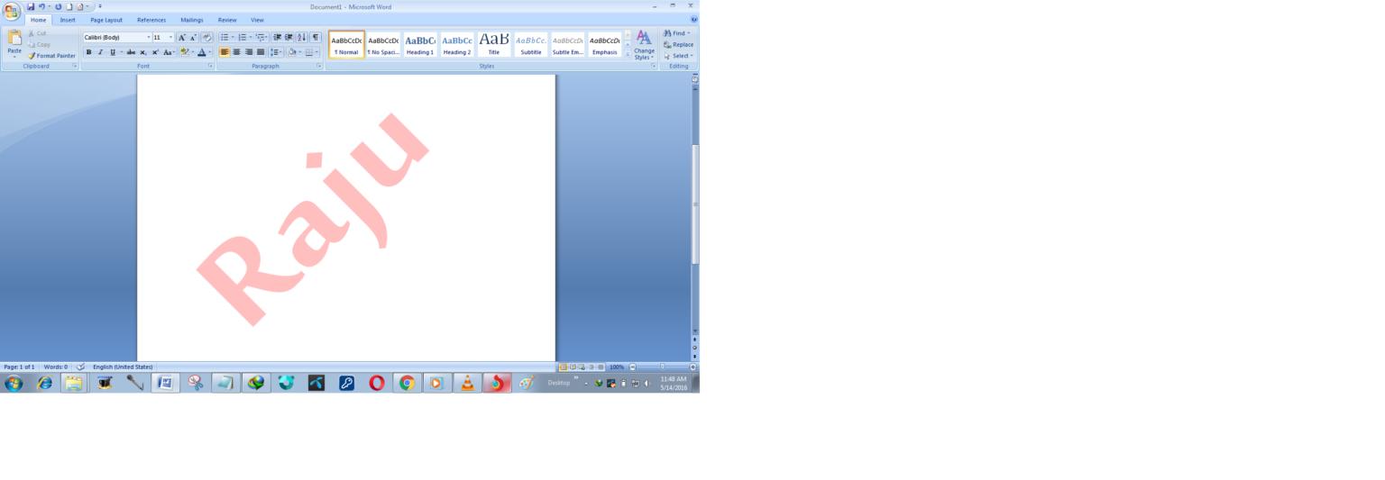 Microsoft Word 2007 by Raju 6