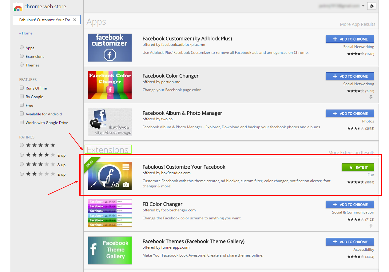 how to change your fb search page