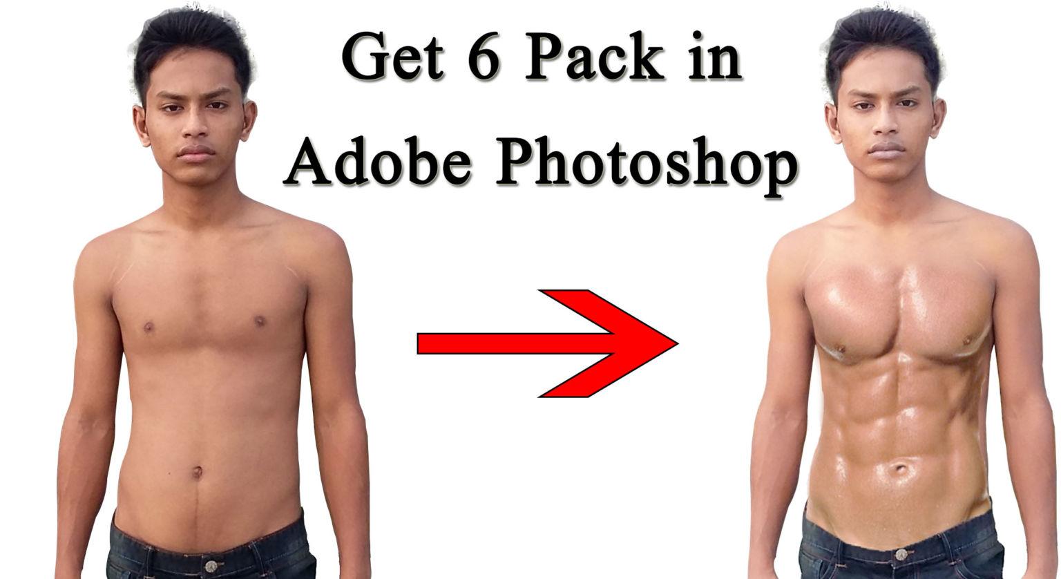 Get-6-Pack-in-Adobe-Photoshop-Tutorial