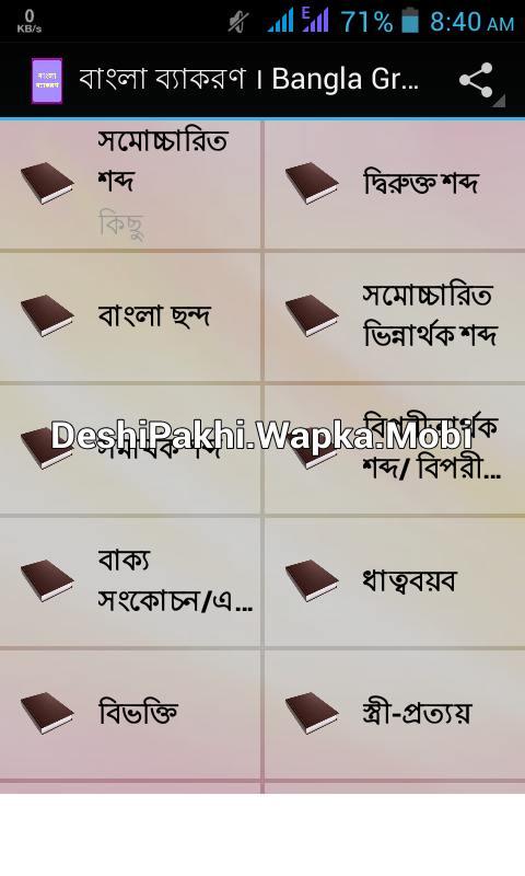 বাংলা ব্যাকরণ বই নিয়ে নিন সাইজ ৩ এমবি [Don't Miss]