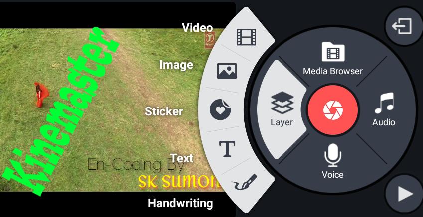 এবার Kinemaster  এ video layer যোগ করুন এবং Chroma Key দিয়ে video Background change  করুন।(যাদের ফোনে kinemaster pro পুরোপুরি support করে না,তারা দেখুন কিভাবে video layer add করবেন।Root Needed)