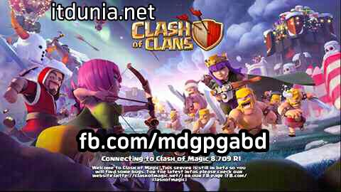 clash of clans mod version ( unlimited gems, gold, elixir, dark elixir) সম্পুরন নতুন। part 2 ( xmas version)
