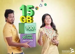 Teletalk 15GB Internet 900TK 30 Days