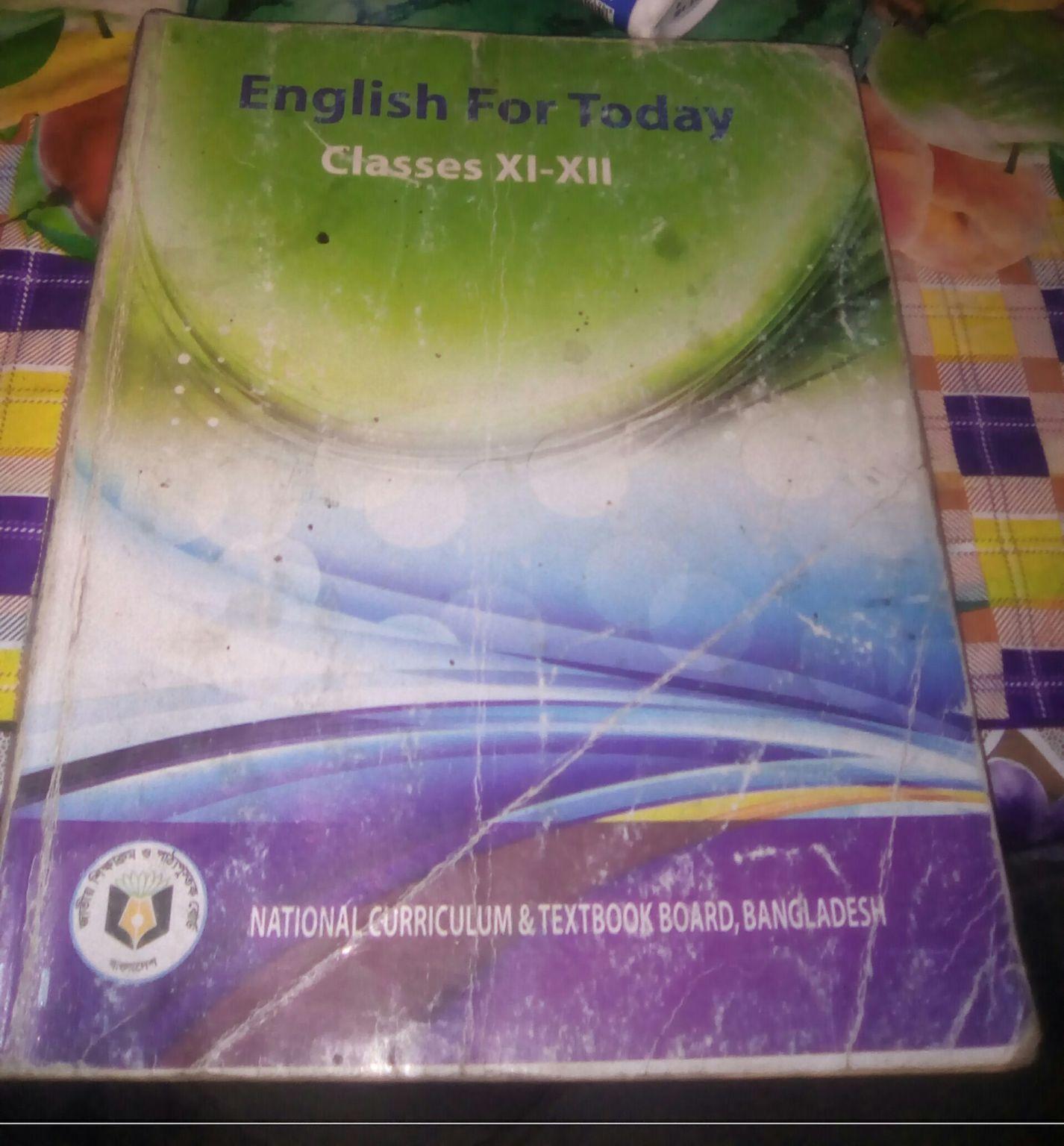 একাদশ-দ্বাদশ শ্রেণীর জন্য English For Today বইটি ফ্রী Download করুন[XI-XII]