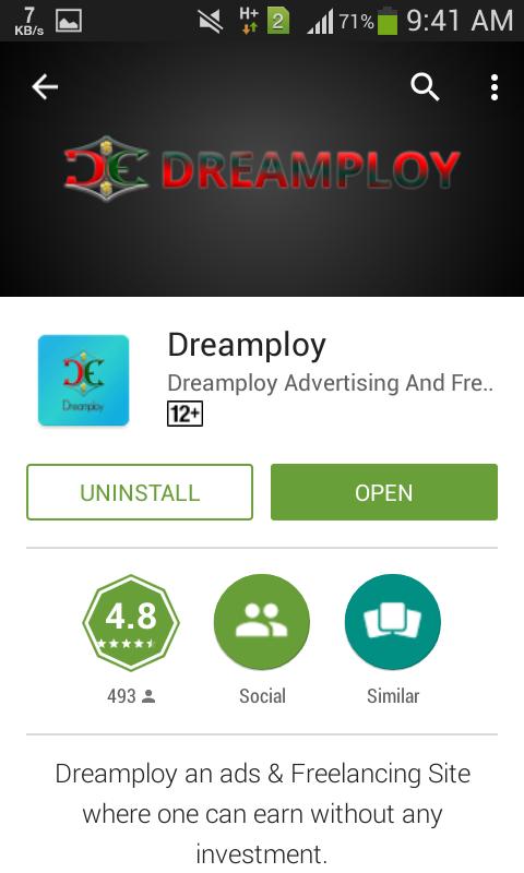 সুখবর!  Dreamploy app চলে এসেছে। আসুন এবার আয় করা শুরু করি!!