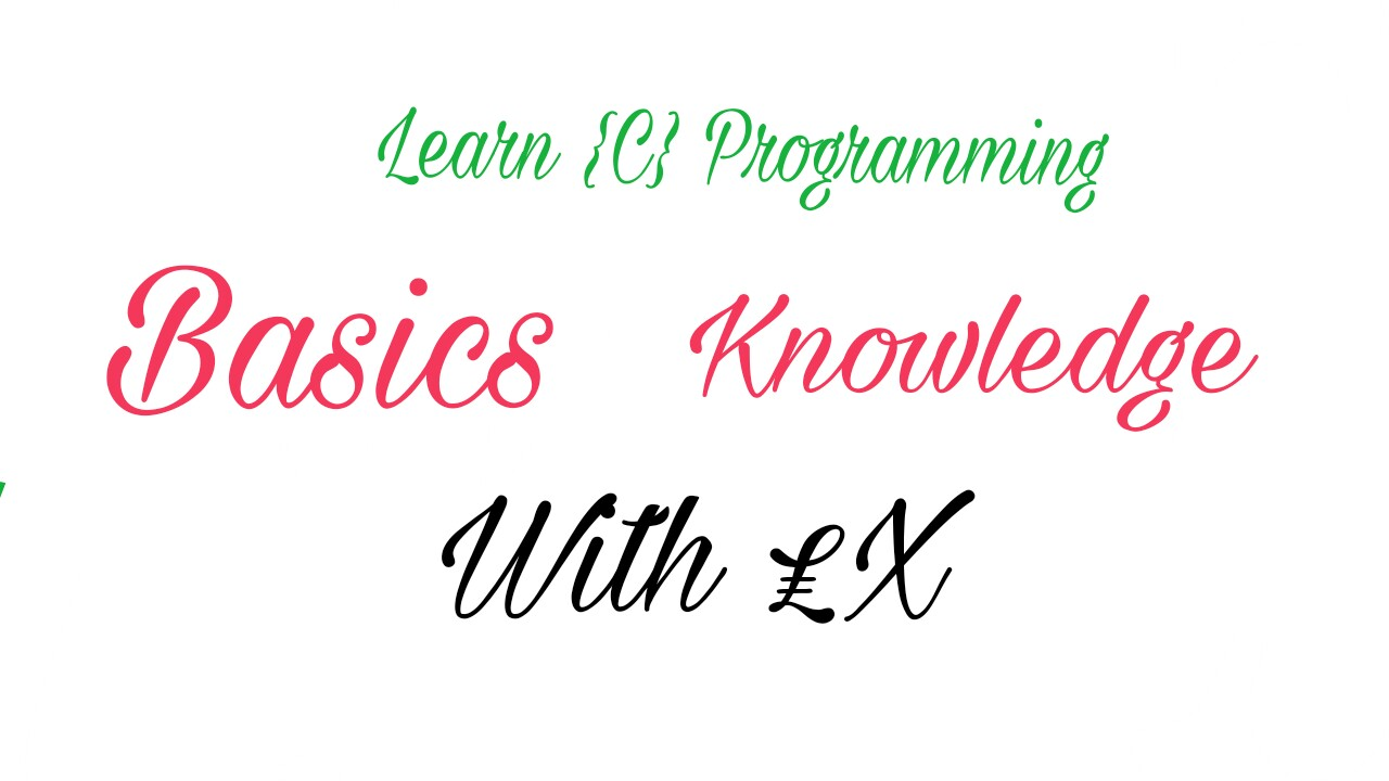 {Bangla Guideline}Learn C programming Basic Knowledge with_Ex!