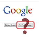 "Google এ ""i am feeling lucky"" কথাটির অর্থ কি? [with screenshort]"