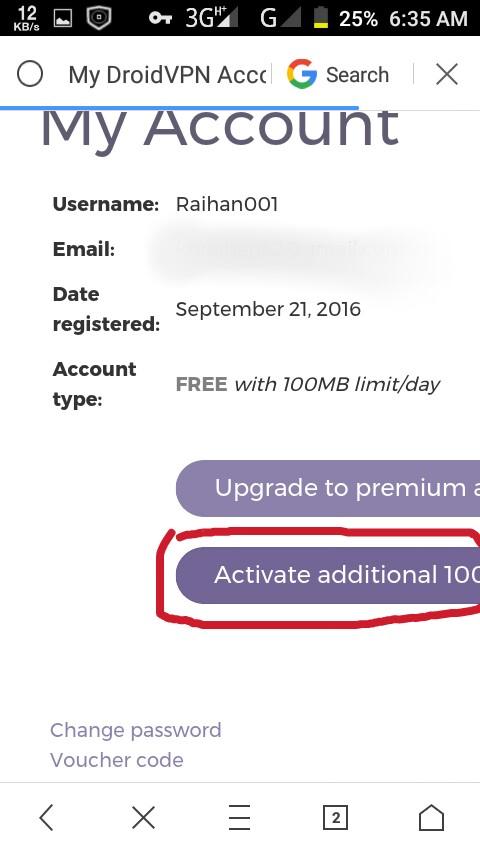 [DroidVpn]এখন থেকে প্রতিদিন ২০০ MB করে ফ্রি চালান।আর নয় ১০০ MB লিমিট[With Screenshot]