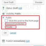 এখন WordPress Page বা Post এ পাসওয়ার্ড লাগান। পাসওয়ার্ড না দিলে কেউই এই পেজ বা পোস্ট দেখতে পারবে না।