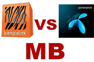 [Hot Post]  Banglalink  VS  Grameenphone এর MB কম্পিটিসন।  :)