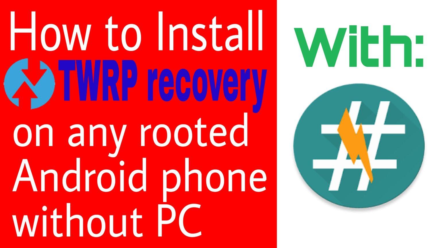 দেখুন কিভাবে যেকোনো Rooted এন্ড্রোয়েড ফোনে TWRP recovery ইন্সটল দিবেন।