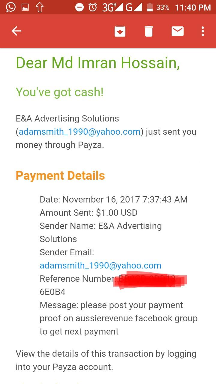 আমার দেখা এইটাই একমাত্র রেভেনিউ শেয়ারিং সাইট যেখানে আপনি সাইন আপ বোনাস($20) দিয়ে ইনকাম করতে পারবেন এবং সেই টাকা withdraw দিতে পারবেন সাথে আছে Payment Proof