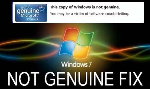 যেভাবে উইন্ডোজ ৭ এর This copy of windows is not genuine ম্যাসেজটি চিরদিনের জন্য বন্ধ করে দিবেন Genuine করা ছাড়াই শুধু মাত্র  CMD ব্যবহার করে