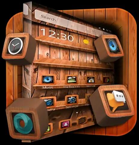 [Hot]  এবারে CM Lancher (user)রা নিয়ে নিন অসাধারন একটি  থিম (App)এপ Wooden theme lancer  [SUPER]
