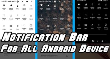 Notification Bar এ আপনার ছবি লাগান(No Xposed Installer)+ Oreo Notification Bar(Root/Unroot)