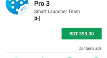 Smart launcher pro 3 v3.23.3 এখনি ডাউনলোড করে নিন। যার দাম প্লে স্টরে ৩৯০ টাকা।
