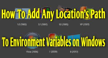 Environment Variables কি এবং উইন্ডোজ পিসির যেকোনো ডিরেক্টরির লোকেশন পাথ (Path) Environment Variables এ যোগ করার উপায়।