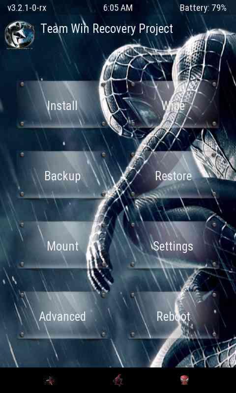 [All][Twrp][v3.2.1-0] নিয়ে নিন লেটেস্ট Twrp ভার্সনের জন্য Spiderman Theme (Collected) + যেকোনো Twrp Recovery মোডে স্ক্রিনশট নেওয়ার ট্রিক।
