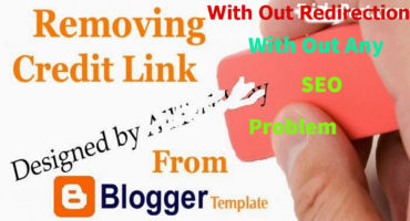 How To Remove Blogger Footer Credit With Out Redirect And Any Seo Problem