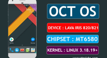 OCT OS Nougat 7.1.2  Custom Rom For Lava iris 820/821 MT6580 3.18.19+ kernel