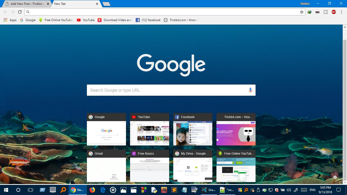 [Updated] (Chrome Tricks) কিভাবে গুগল ক্রোমের হোম পেজের ব্যাকগ্রাউন্ডে ইমেজ সেট করবেন। Without any Extension