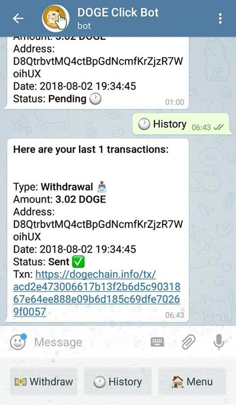 Telegram দিয়েই Dogecoin আয় করুন .!!! সাথে payment proof  !!! (যারা জানেন না তাদের জন্য) সাথে থাকছে আাকর্ষণীয় ট্রিকস!!!