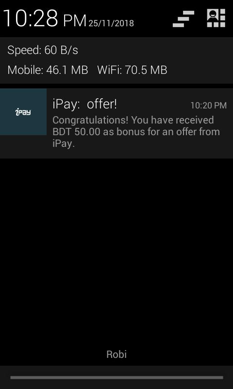 NID কার্ড আছে?  ipay account খুলে 50 টাকা ফ্রী নিন।  ১০০% 😱পাবেন অফারটি  ডিসেম্বর ৩১তারিখ পর্যন্ত চলবে।