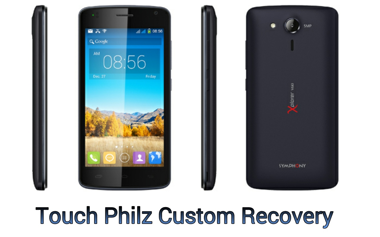 নিয়ে নিন Touch Philz Custom Recovery For SYMPHONY V60