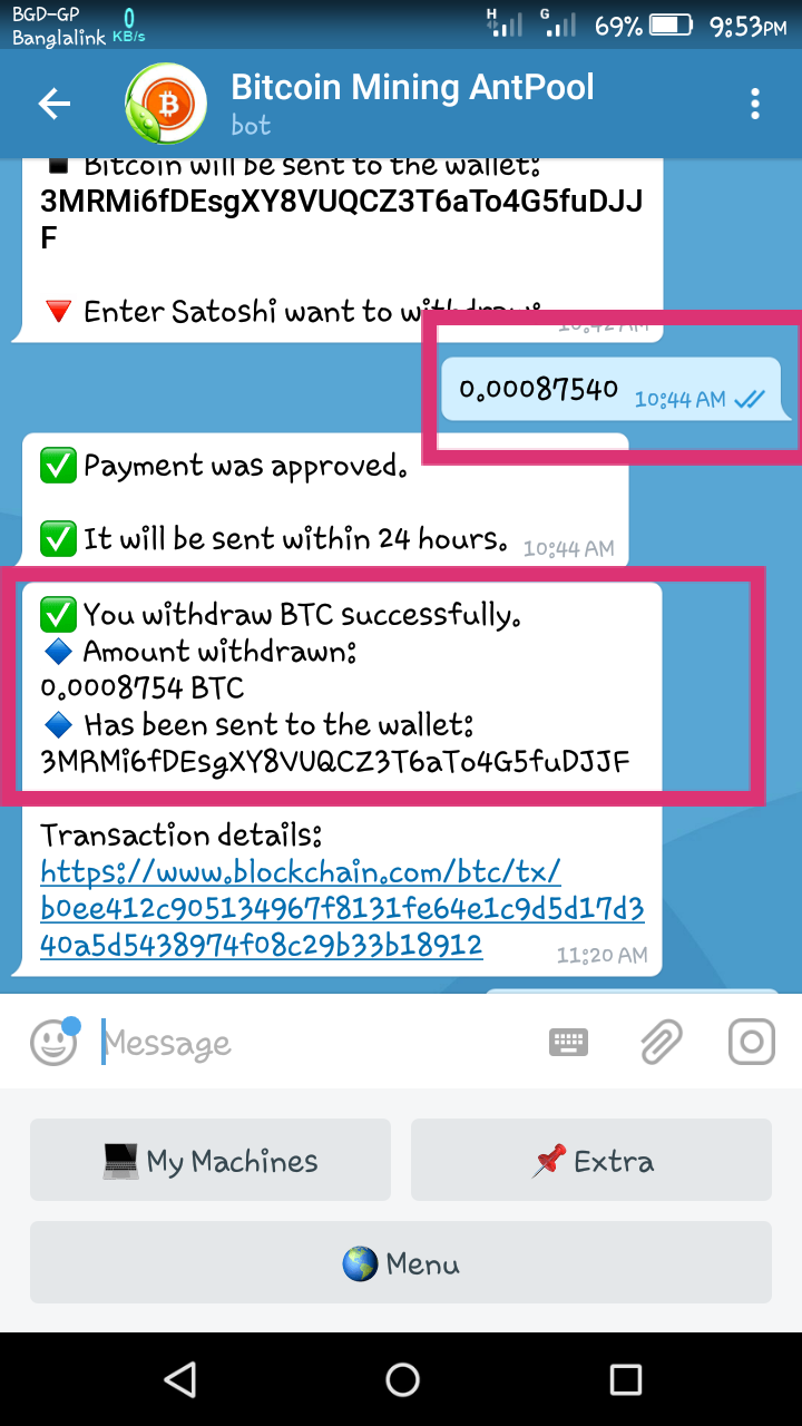 telegramă bot bitcoin)