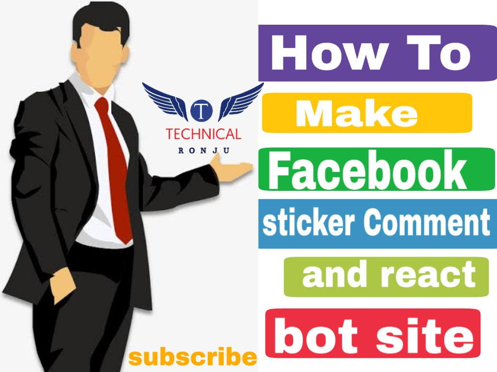 How to make sticker comment and love react facebook bot site 2018