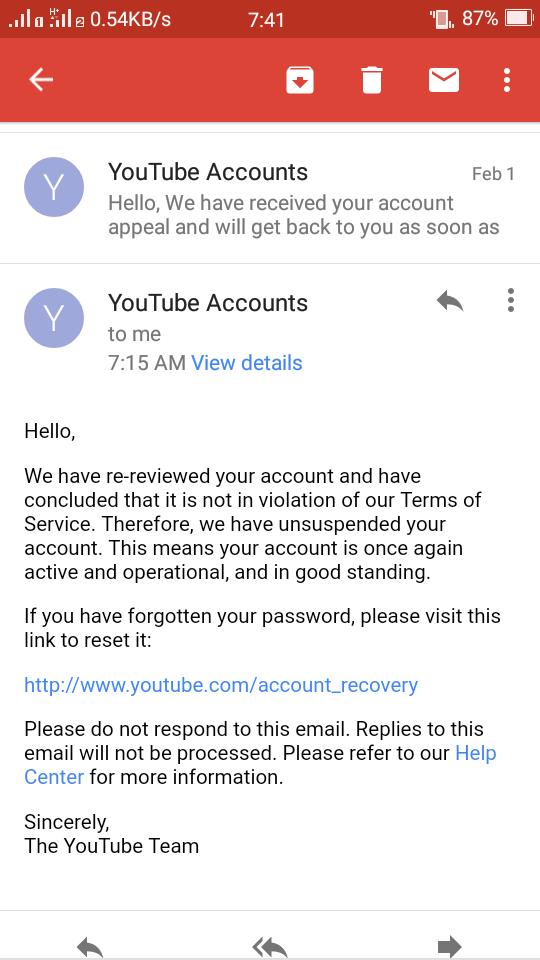 Youtube Suspend Account ফিরিয়ে আনতে চান? ১০০% কাজ করবে।