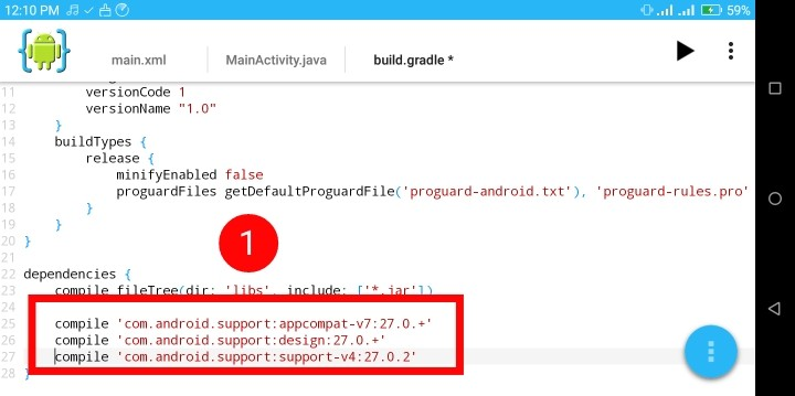 [AIDE-3] :: Android IDE এরমাধ্যমেঅ্যান্ড্রয়েড অ্যাপ তৈরি শিখুুন   কাস্টম টুলবার লেয়াউট সেট টিউটোরিয়াল  