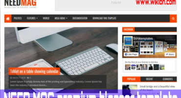 Need Mag Premium Blogger Template টি একদম বিনামূল্যে ডাউনলোড করে নিন