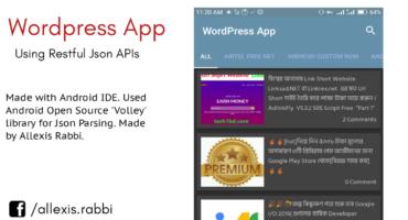 [AIDE-4] :: Android IDE এর মাধ্যমে অ্যাপ তৈরি || আপনার WordPress সাইটের জন্য App তৈরি করুন Json Api ব্যবহার করে ||