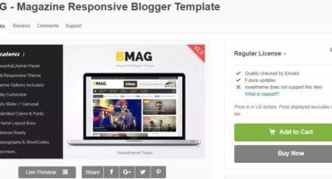 [FreeTheme-1] $21 ডলার এর BMag Blogger Template ফ্রিতে নিন।