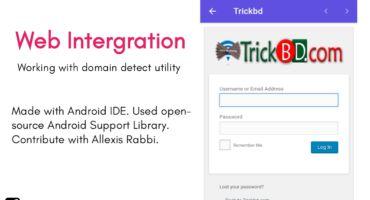 [AIDE-6] :: এবার তৈরি করে ফেলুন Web Intergration App || Blogger, WordPress, Wapkiz সব সাইটের জন্য কাজ করবে।। সাথে থাকছে Domain Detect Utility [সম্ভবত Trickbd App এ এই ফিচারটি ব্যবহার করা হয়েছে] ||