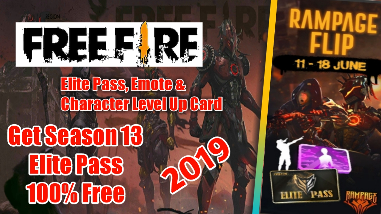 [Free Fire] Season 13 Elite Pass, Emote এবং Character Level Up Card নিয়ে নিন ১০০% ফ্রিতে