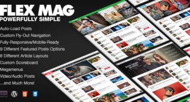 [NEW] ফ্রিতে নিন Flex Mag – Responsive WordPress News Theme !!!