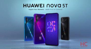 পাঁচটি ক্যামেরা ও শক্তিশালী প্রসেসরের সাথে লাঞ্চ হয়ে গেল Huawei Nova 5T  স্পেসিফিকেশন এখানে!!!