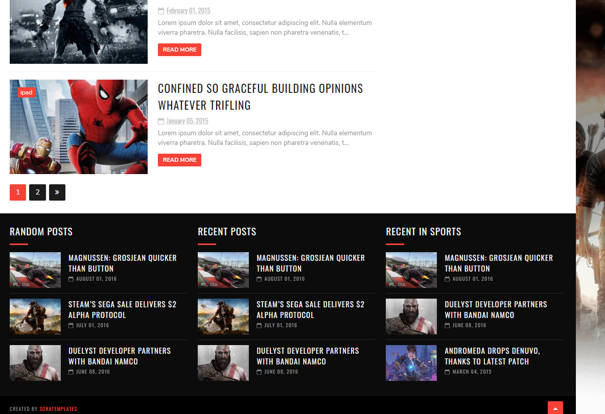 Best Responsive Gaming Template For Blogger-BBT