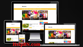 Recipee Food premium  Blogger Template without footer credit free download