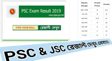 PSC Result : Class 5 সমাপনী রেজাল্ট _JSC Result 2019 এক সাথে
