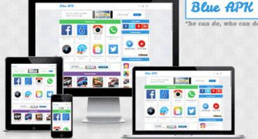 বিনামূল্যে ব্লগার দিয়েই তৈরী করুন একটি এ্যাপস ডাউনলোড ওয়েবসাইট (Blue APK Apps Blogger )টেম্পলেট দিয়ে