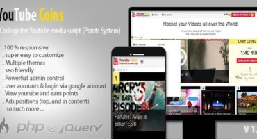 YouTube Coins v2.0.0 – (Media Script + Points System) FREE DOWNLOAD